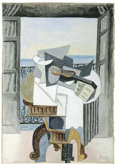 Picasso, Tisch vor offenem Fenster